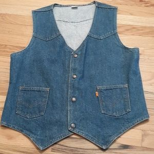 Vintage Levi's orange tab denim vest